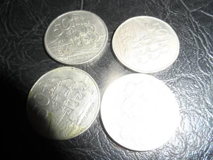 New zealand round 50 cent coins