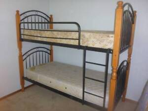BUNK BED or use as 2 SINGLE BEDS with 2x Innerspring Mattress Woolgoolga Coffs Harbour Area Preview