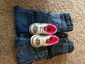 Toddler girl jeans and DC shoes