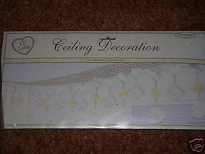 Wedding Ceiling Decorations (NIP Wedding Bridal Shower Ceiling Decorations 12ft. NEW White Hanging Decor)