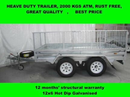 12x6 HOT DIP GALVANISED TRAILER WITH 5 NEW TYERS &;RIMS