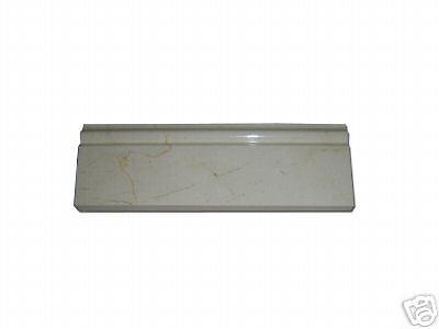MARBLE CREMA MARFIL POLISHED BASEBOARD MOLDING TILE   (Crema Marfil Marble Molding)
