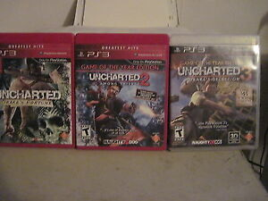 PS3 Uncharted 1-3 excellent condition