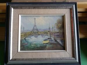Oakville PARIS EIFFEL TOWER OIL PAINTING ART Framed  8X10 Wood Frame