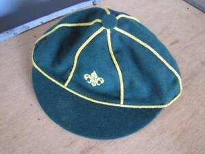 Vintage Australian Made Pure Wool Green SCOUT CAP 2 Available Goodwood Unley Area Preview