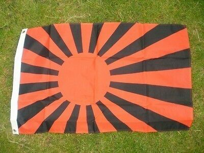 Japanese Rising Sun Black Flag 3x2 WW2 Military Punk Anarchy Anarchist Occupy bn