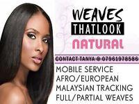 Hairdresser Weave Stylist, Sew-in Weave, Brazilian Knots, Frontal Custom Hairline, London