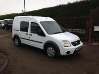 10 MODEL FORD TRANSIT CONNECT TREND , LONGWHEEL BASE HIGH TOP CREW VAN 1.8TDCI , AROUND 42-55MPG