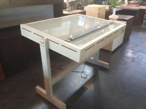 EXTRA DEAL OF THE WEEK! - USED DRAFTING TABLE WITH BACK LIGHT!
