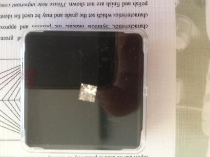 Princess cut diamond .94cts this is an excellent diamond with cer