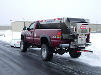 Sanding Parking Lots - Snow Plow and Salting Services