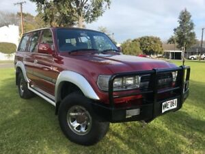 1990 Toyota Landcruiser FJ80R GXL Red 5 Speed Manual Wagon Somerton Park Holdfast Bay Preview