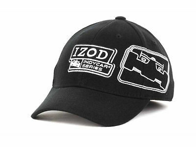 ee814e685200a IZOD INDYCAR RACING SERIES EMBROIDERED GRAPHICS STRETCH FIT CAP HAT - M L