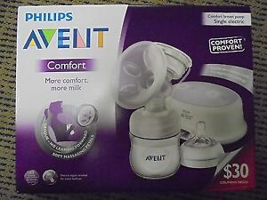 BNIB Philips Avent Comfort Single Electric Breast Pump, White