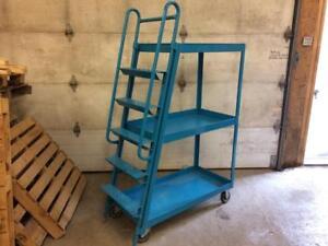 Chariot d'entrepôt avec échelle ---- Warehouse cart with ladder