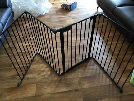 black metal safety fence