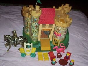 vintage Fisher Price castle play house 990 & 952 garage etc.
