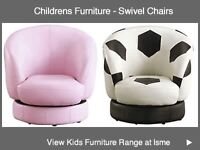 Pink leather swivel chair