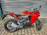 HONDA CBR125 R, red, 2014, clean, 12 months mot, warranty