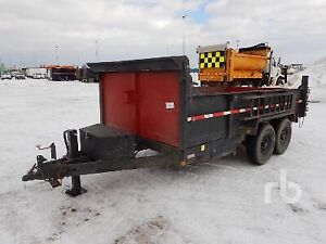 2010 gator USA 14 ft dump trailler