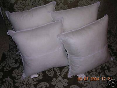 NEW (1) 30 x 30 Square Fiber Pillow Form Insert MADE IN USA ()