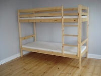 NEW !!! BUNK BEDS WHITE OR PINE. FREE DELIVERY IN BOURNEMOUTH