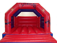 Spider-man bouncy castle with fixed rain cover to hire £40 weekdays £50 weekends