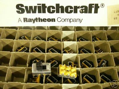 Switchcraft PN. 46206MR Slide Switch DPDT NEW