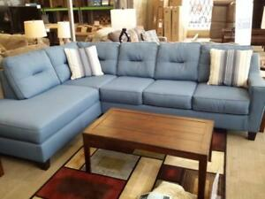 *** USED *** ASHLEY KIRWIN BLUE SECTIONAL   S/N:51287875   #STORE545