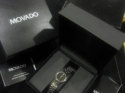 Movado Ladies Museum Watch, Stainless Steel Bracelet, Black Dial NEW on Rummage