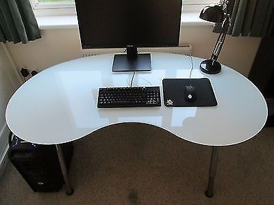 Ikea Kidney Shape Glass Desk Galant
