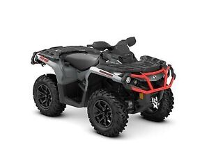 2018 Can-Am Outlander XT 1000R Brushed Aluminum  Can-Am Red
