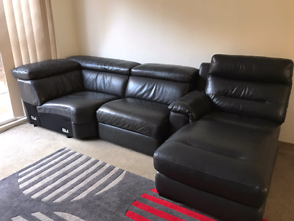 Leather sofa for sale Marsfield Ryde Area Preview