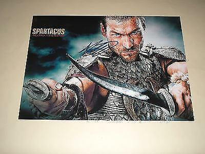 """SPARTACUS : BLOOD & SAND PP SIGNED 12""""X8"""" POSTER"""