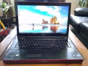 """24gig Ram Gaming intel i7 Quad Core 128gb SSD Plus 1 TB 17.3"""" Dell Precision NVIDIA 4gig Graphics WiFi HDMi Laptop $670"""