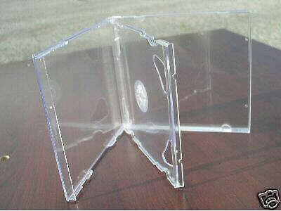 100 NEW DOUBLE 2 CD JEWEL CASES WITH CLEAR TRAY PSC36 Double Clear Cd Jewel Cases