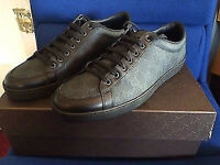Gucci black leather and Canvas trainers size 6