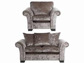 Glitz Two Seater Sofa and 2 Arm Chairs