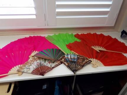 9 FANS  decorative needs a new home