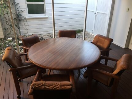 Solid Timber Round Dining Table 150cm