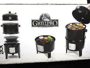 Grill Pro 16-Inch Smoker and Charcoal Grill