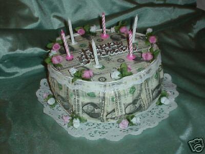 Real Money Gift Birthday Cake