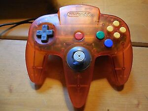 Fire orange/ other trans clear N64 controllers