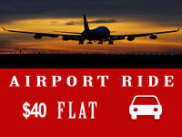 **AIR PORT PICKUP AND DROP OFF** 24/7 $40 FLAT RATE FOR GTA