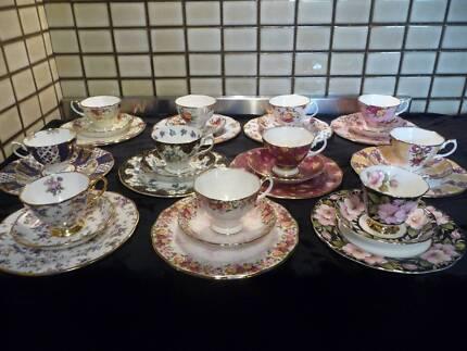 Royal Albert Tea Trio's with 21cm Plate mainly Modern