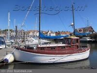 Miller fifer 26' motor sailer -Colin Archer style- classic boat in Bo'ness EH51 9QE