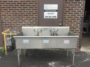 Commercial 3 Compartment Heavy Stainless Steel Sink