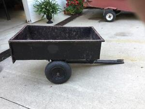 Used Dump cart for riding lawnmower