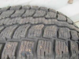 4---P265/75R15 Winter Cat---Studded---Like New---(Hard Size to find)