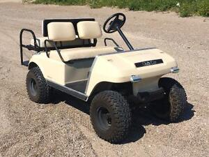 Club car electric lifted and backseat